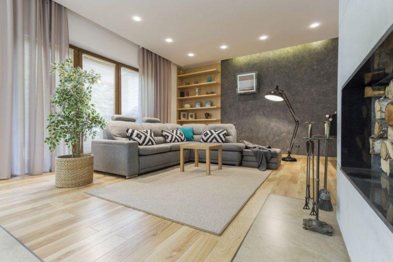 Plafony sufitowe LED w aranżacji nowoczesnego mieszkania